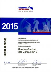 Schmitz Cargobull Servicepartner des Jahres 2015